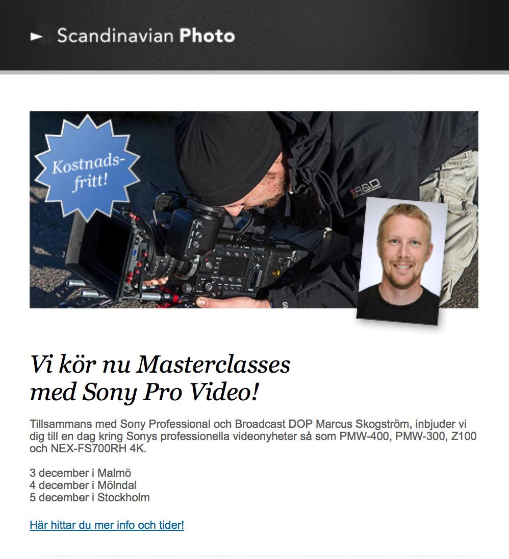 Sony workshops