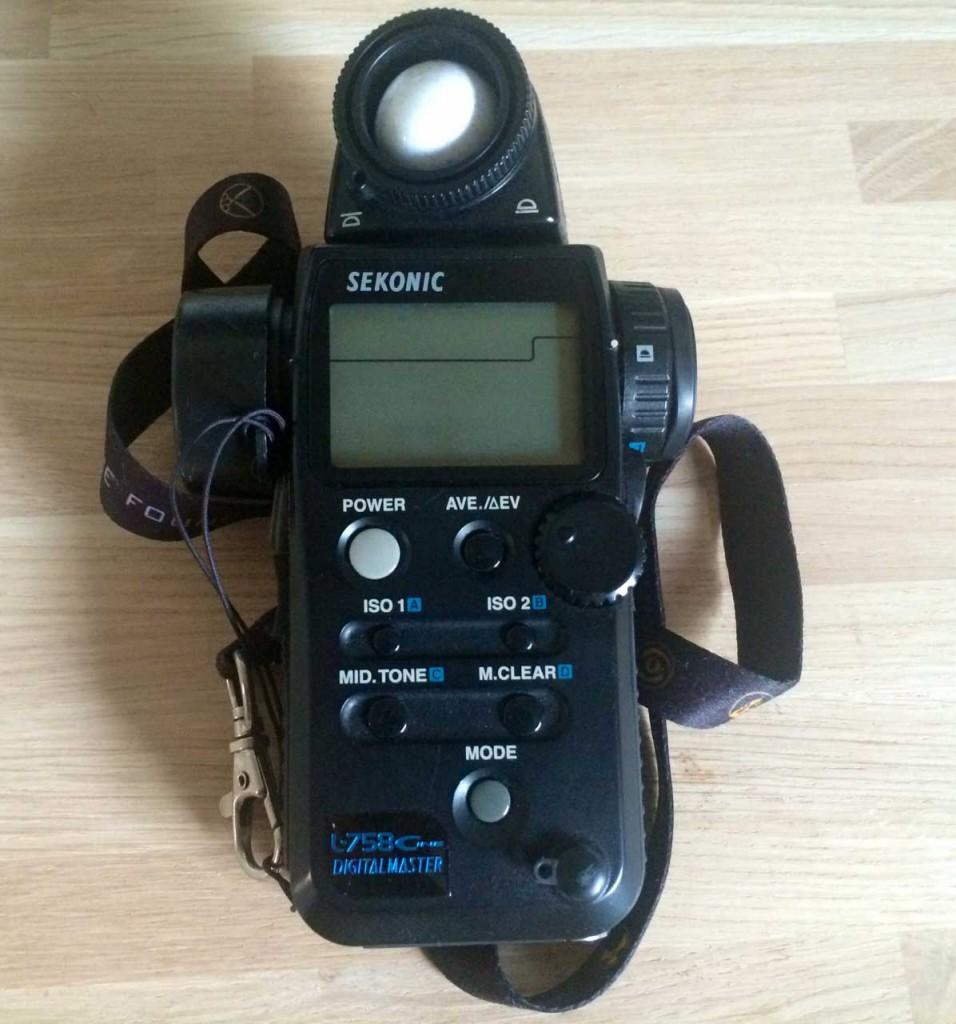 My trusty light meter
