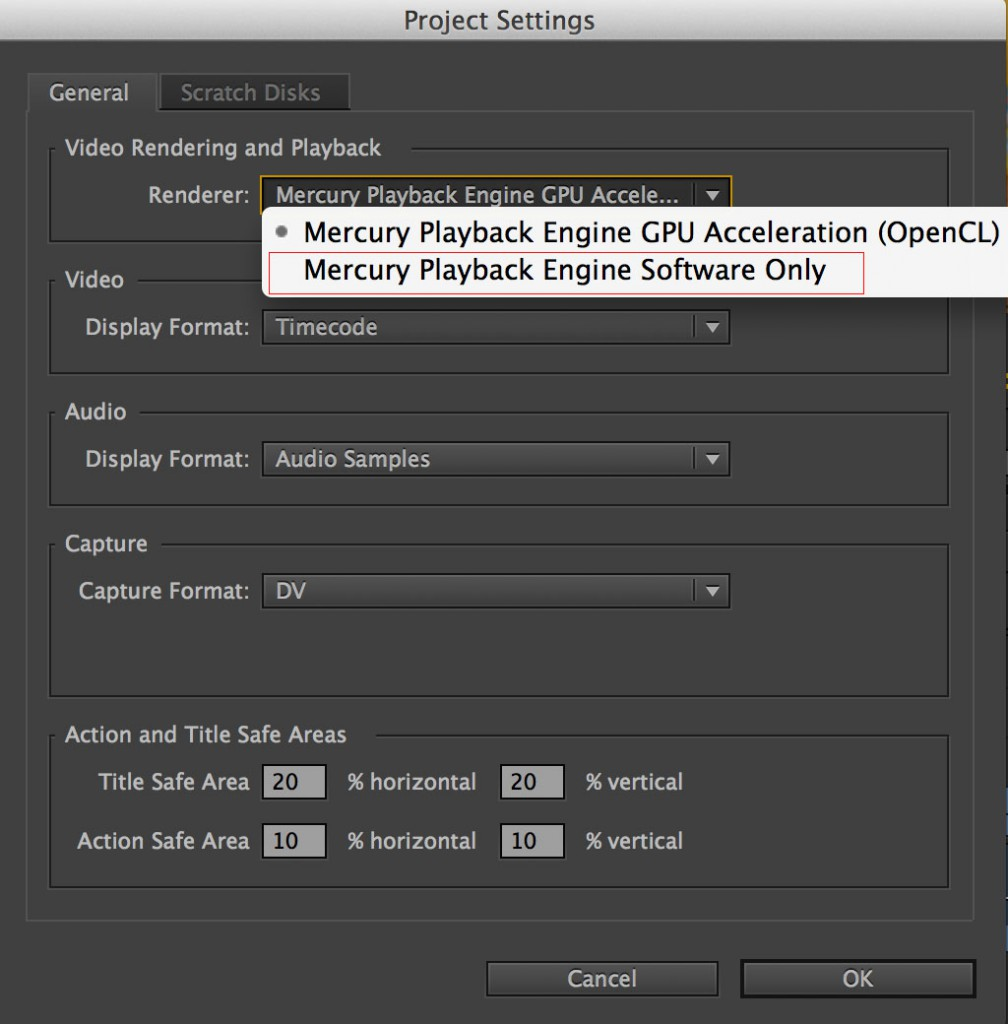 Turn OFF open CL to have Ultrastudio Mini Monitor working in Premiere Pro on New MackBook Pro.