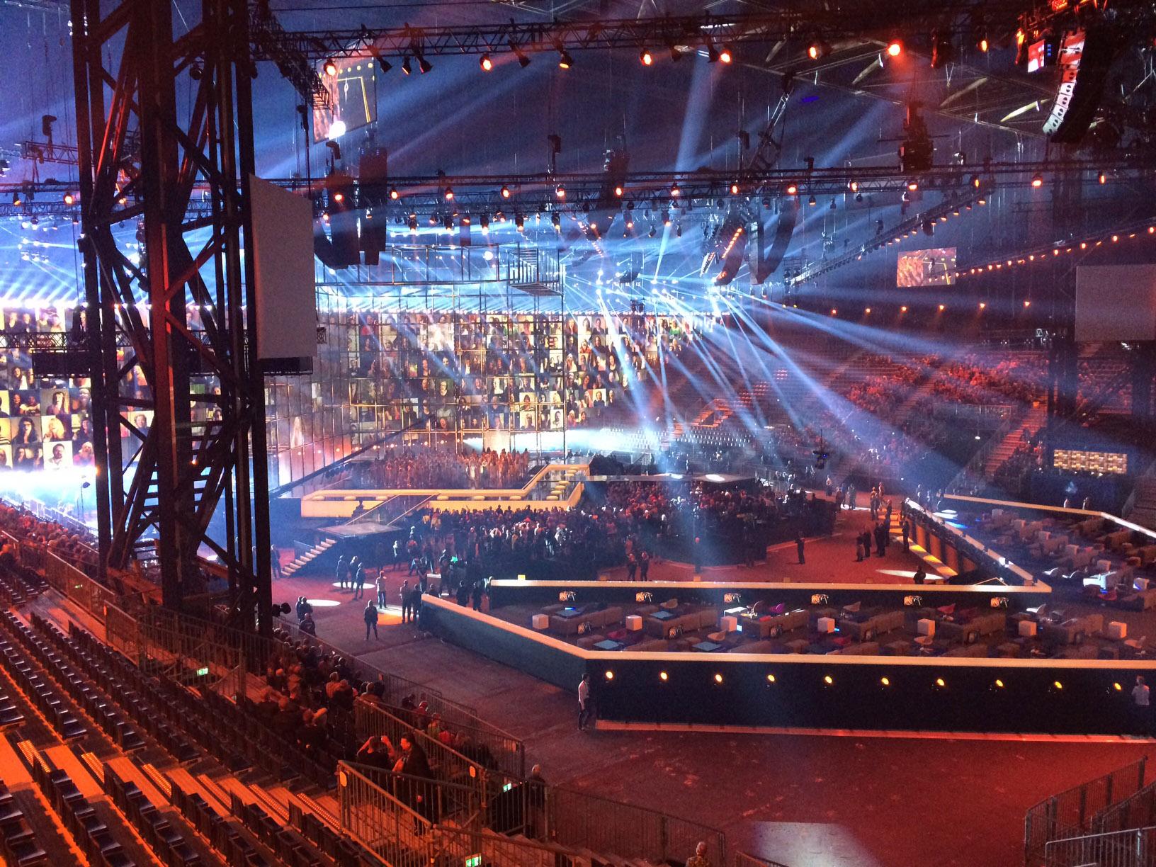Eurovision 2014 setup