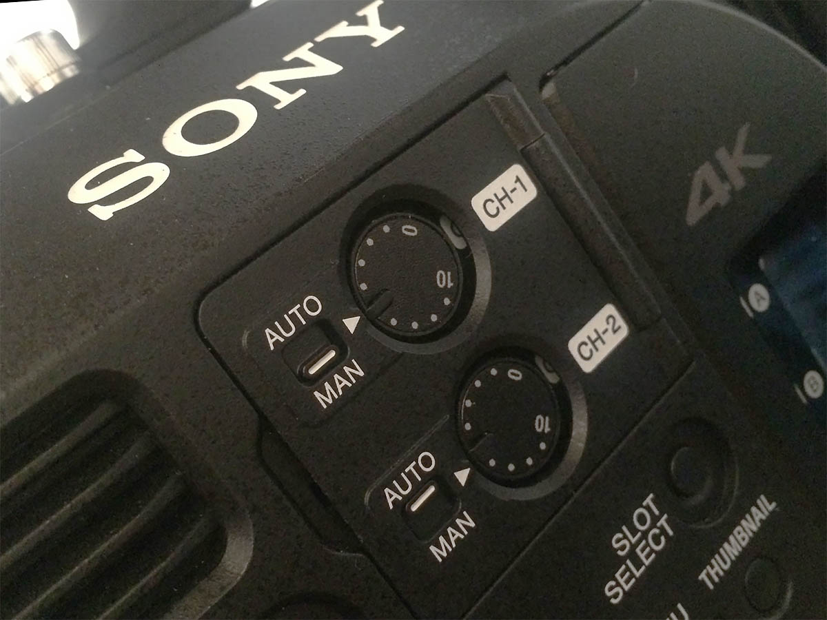 4 channels Audio Sony FS7